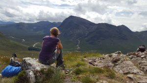 Sarah Belwriting - West Highland Way - Devil's Staircase