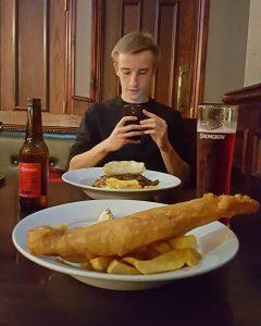 Sarah Belwriting - Schotland Fish Chips