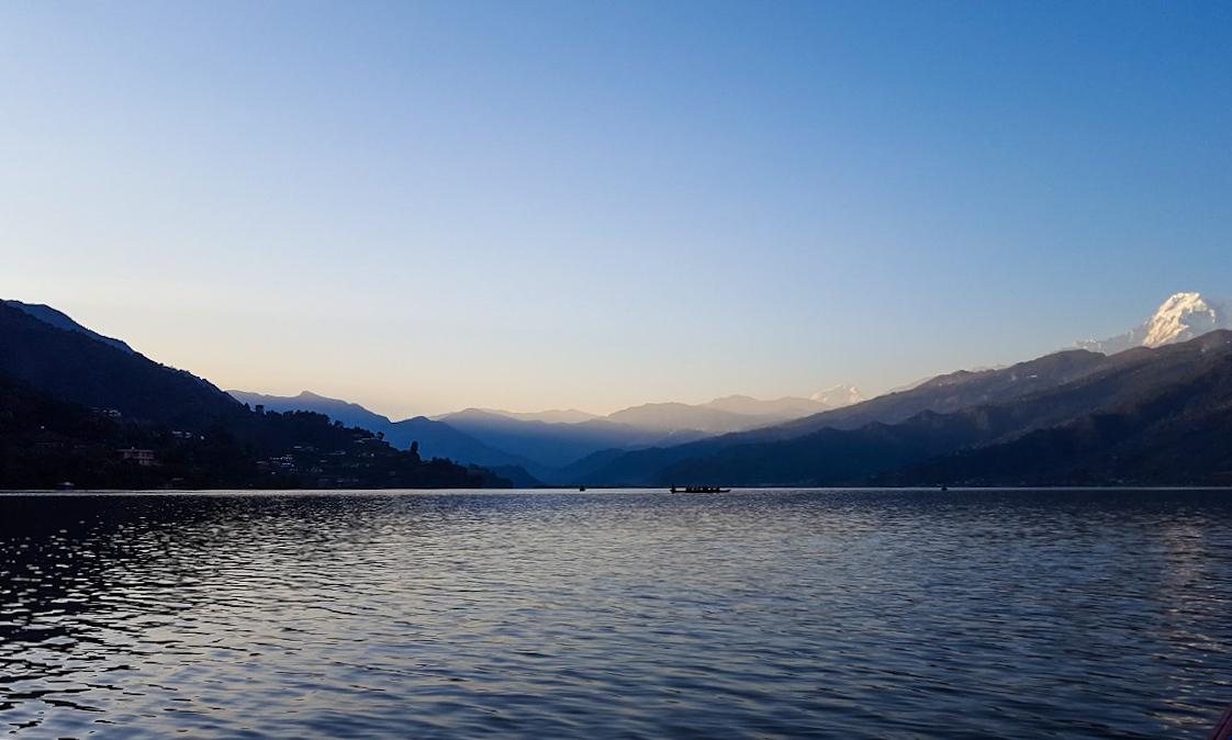 Phewa Lake Pokhara - Sarah Belwriting